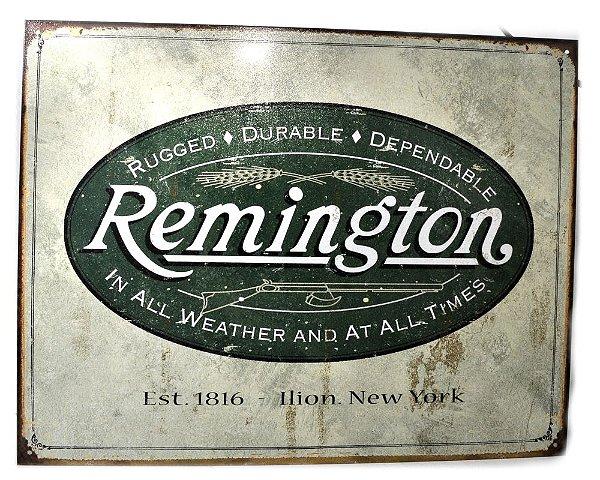 placa decoração remington rugged durable dependable