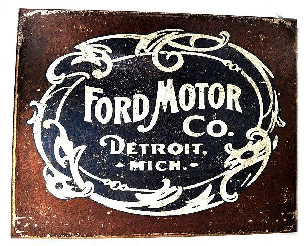 placa decoração lata ford motor co.