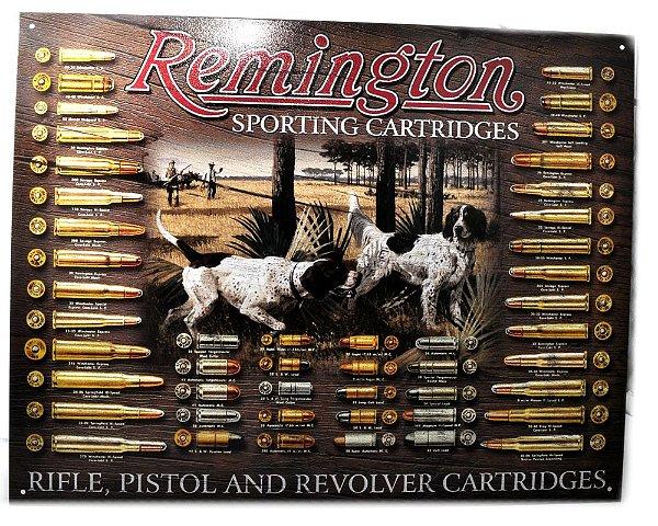 placa decoração remington sporting cartridges
