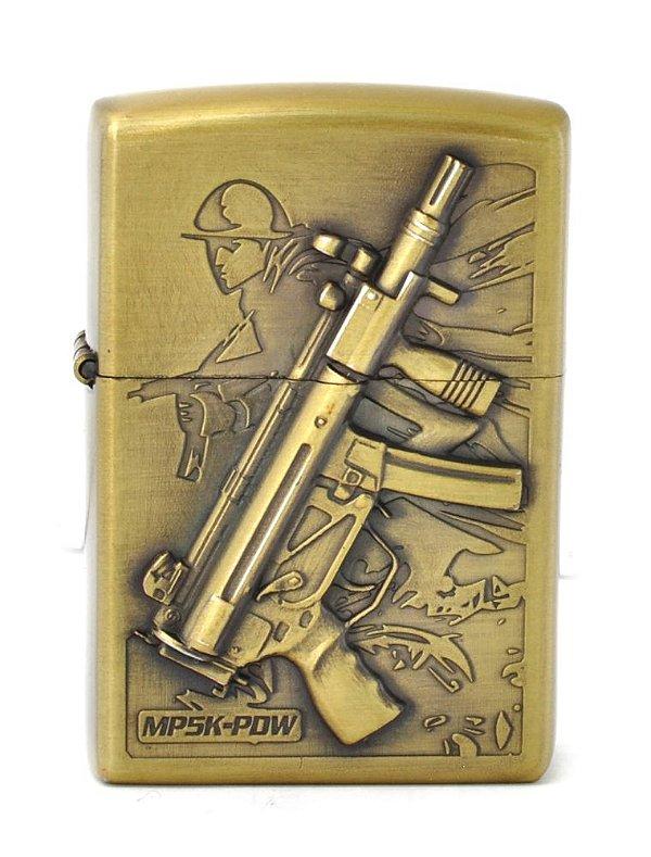 isqueiro cor bronze soldado metralhadora - noble elegant