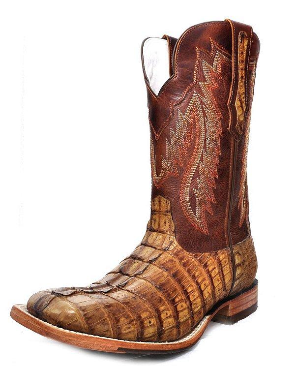 bota couro de jacaré rabo havana goyazes - 173008jc