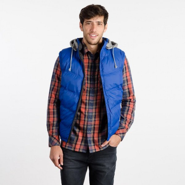 colete randy reversible preto e azul wrangler 31m035at140