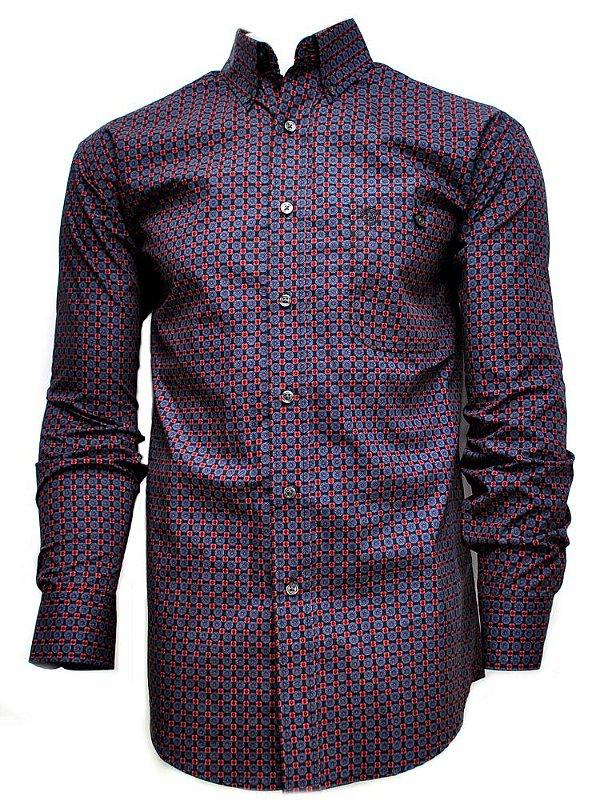 camisa masculina george strait wrangler 41mgsx308a94