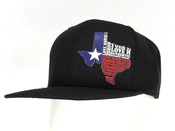 9f93c1490f190 Boné Preto Bandeira Texas Tx Western - Zona Country - Moda Country ...