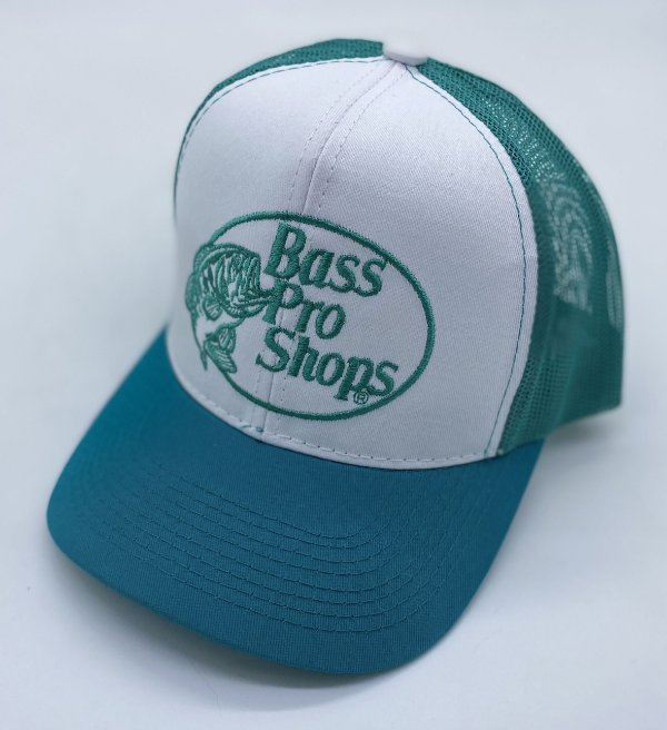 BONE BASS PRO SHOPS VERDE CLARO BORDADO