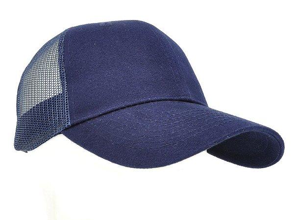 7884e9d6c4c76 Boné Azul Marinho Tela Azul Marinho Básico - Zona Country - Moda ...