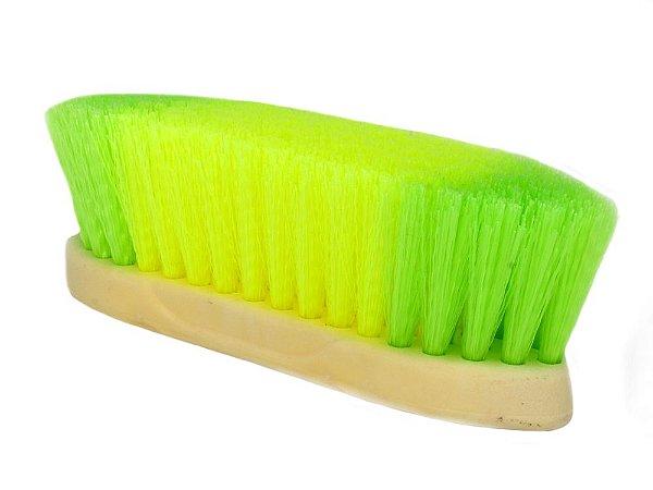 escova para cavalo verde e amarela randy - 246181