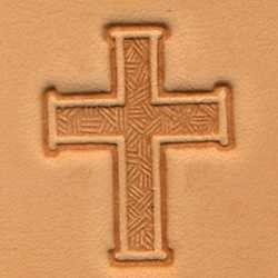 carimbo para couro 3d cruz