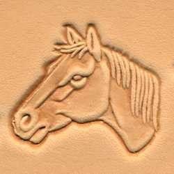 carimbo para couro 3d cabeça de cavalo