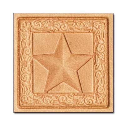 carimbo para couro 3d la estrela