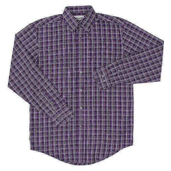 Camisa Wrangler Riata Xadrez Roxa - 41Mr2078A - Zona Country - Moda ... ce377e19244