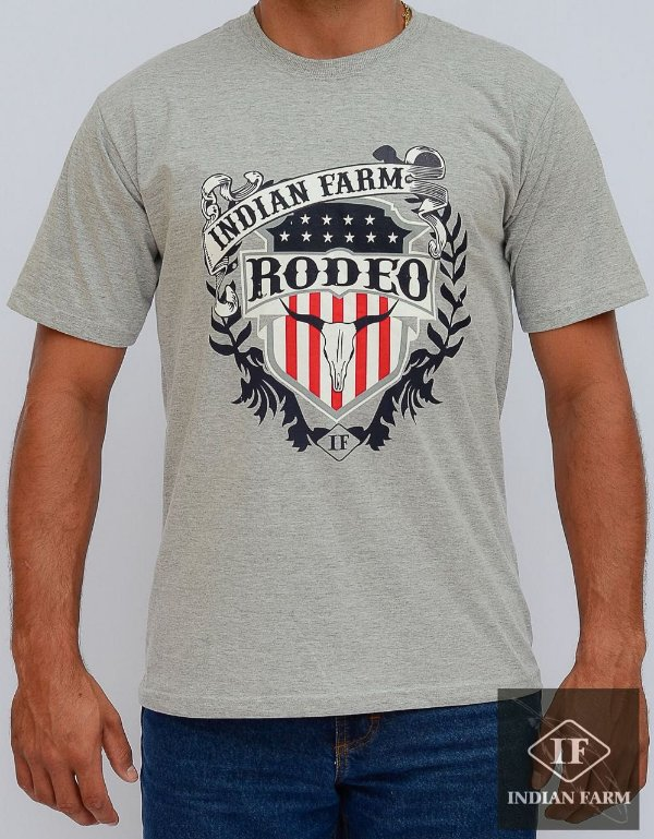 camiseta indian farm cinza rodeo