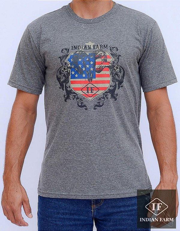 camiseta indian farm cinza escuro bode bandeira