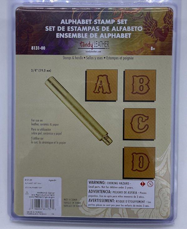 "8131-00 alfabeto de metal para couro 3/4"" 1,91cm"