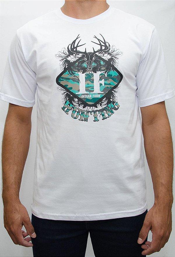 camiseta indian farm branca hunting