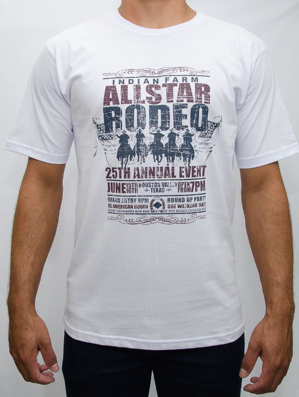 camiseta indian farm branca allstar rodeo