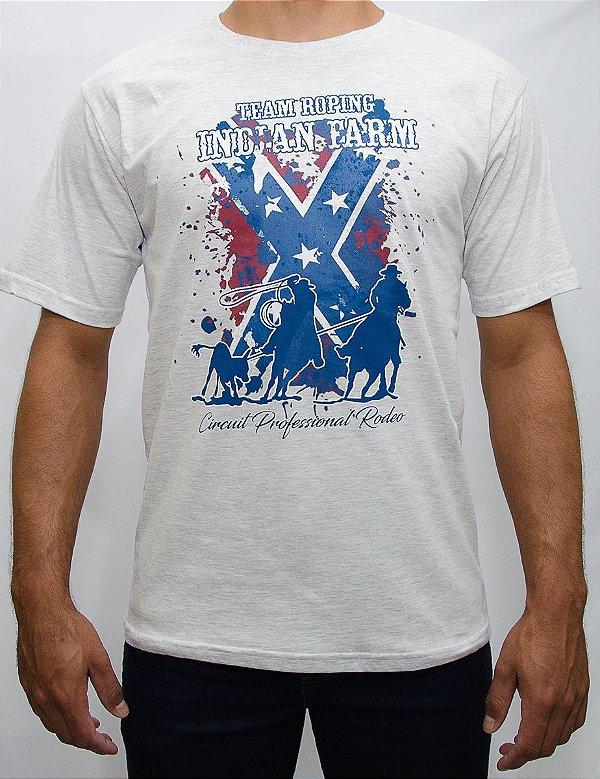 camiseta indian farm cinza texas team roping