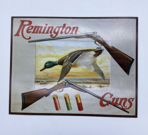 PLACA MET REMINGTON GUNS 30191002