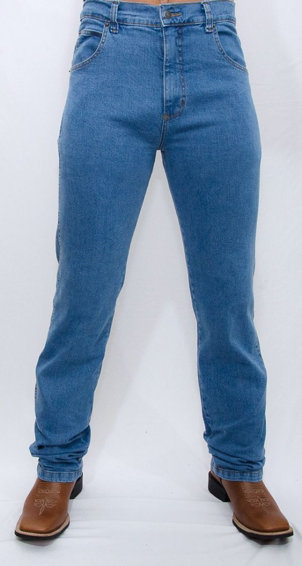 calça jeans indian farm com elastano moove blue