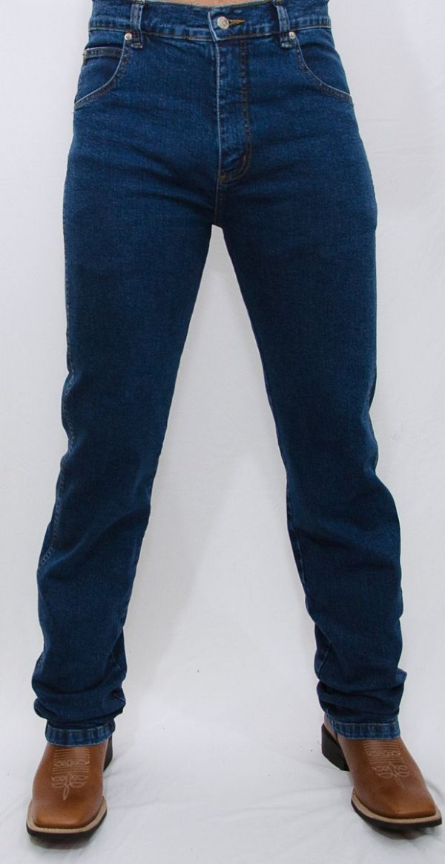 calça jeans indian farm com elastano moove green