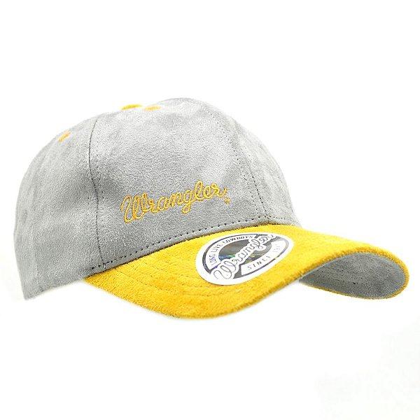 boné cinza aba amarela wrangler