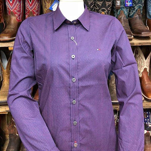 camisa riverton feminina roxa  cod 050 cor 184