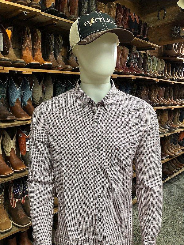 camisa riverton ml estampa branca cores cod 020 cor169