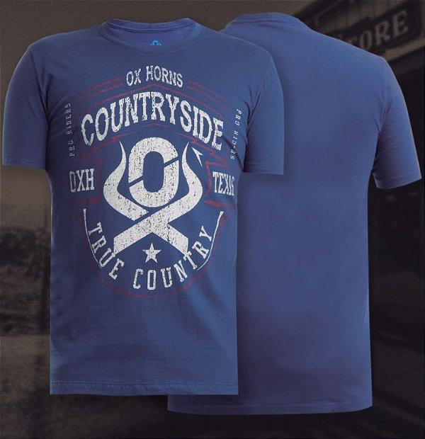 camiseta ox horns marinho country side 1116