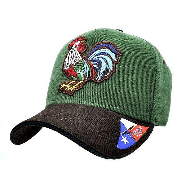 boné verde galo - texas farm - Zona Country - Moda Country Masculino ... 004e580c6f1