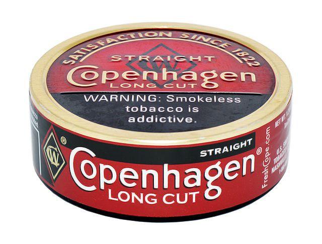 fumo de mascar copenhagen - long cut straight