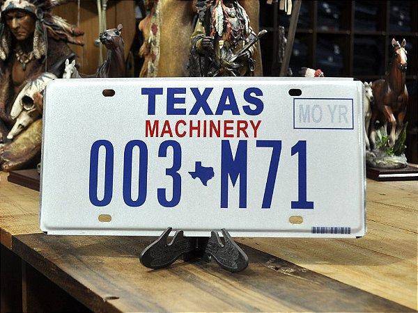 placa texas 003 m71
