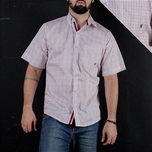 camisa manga curta xadrez 2259c - txc