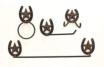 kit de banheiro de metal rustic star 94806-mf