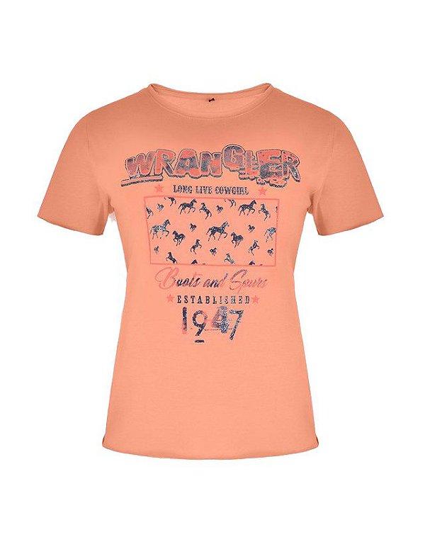 Camiseta Fashion Feminina Salmão WF58543SL - Wrangler