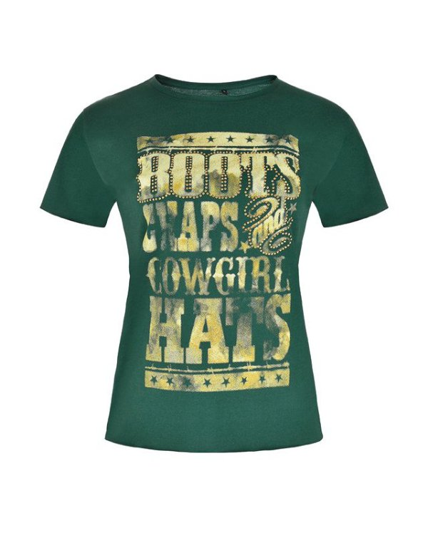 Camiseta Fashion Feminina Verde WF58544MU - Wrangler