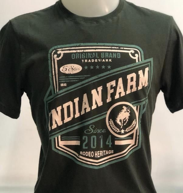 CAMISETA INDIAN FARM VERDE ORIGINAL