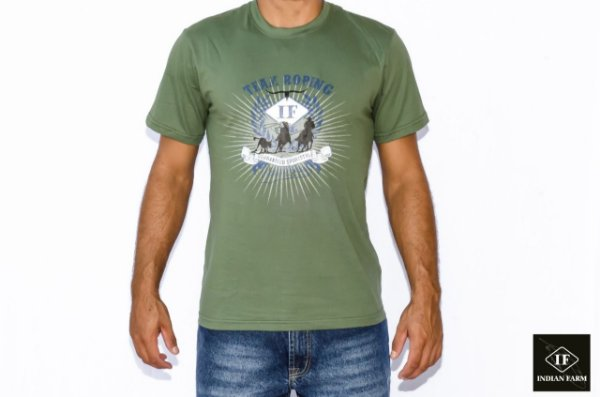 CAMISETA INDIAN FARM VERDE TEAM ROPING IF