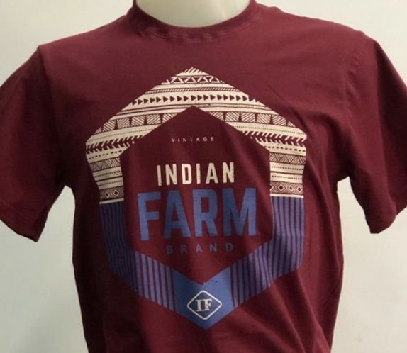 CAMISETA INDIAN FARM MARSALA VINTAGE