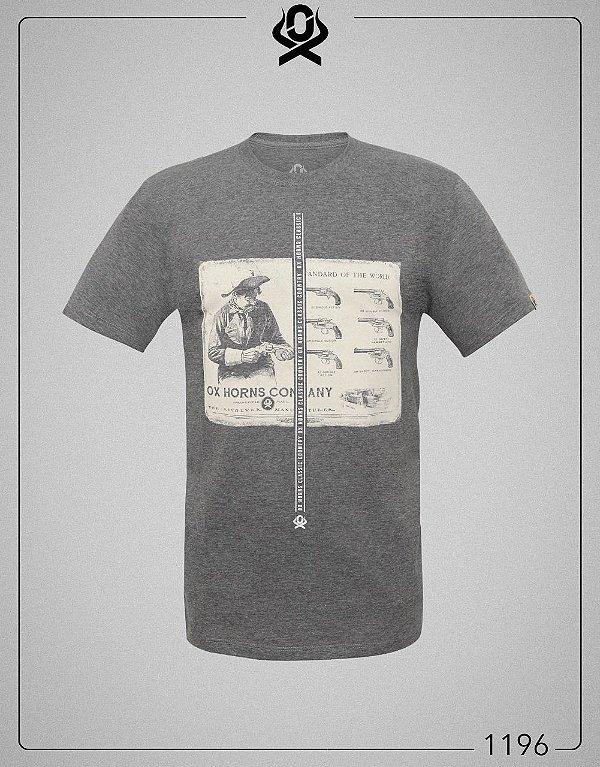 Camiseta Cinza 1196 - Ox Horns