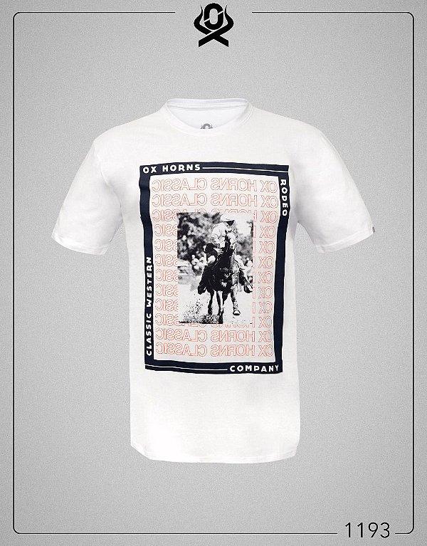 Camiseta Branca 1193 - Ox Horns