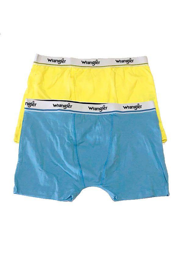 Par de Cuecas Boxer  WMUW001 Azul , Amarelo - Wrangler