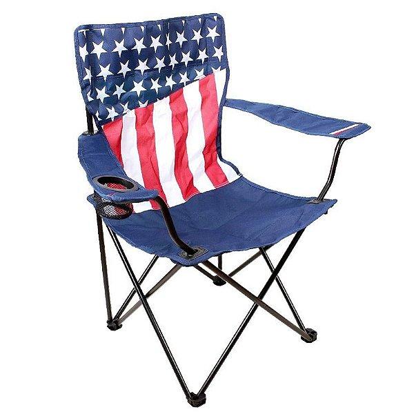 Cadeira de Camping Dobrável Bandeira USA - Bass Pro Shops