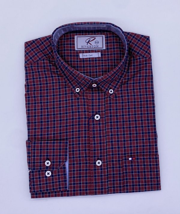 CAMISA RIVERTON VERMELHA ML 020495 SLIN FIT