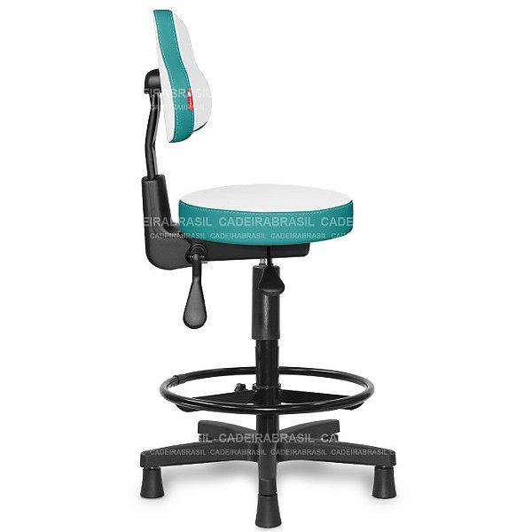 Mocho Alto Ergonômico Estética, Fisioterapia, Odontologia Colors CB 1666 Cadeira Brasil