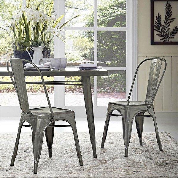 Cadeira Fixa Design Brave Aço Sem Pintura Cadeira Brasil