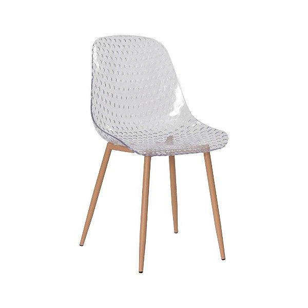Cadeira Fixa Design Orb Policarbonato Cadeira Brasil