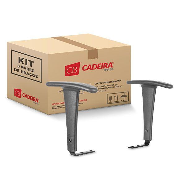 Kit com 5 Pares de Braços Fixo BR017K Cadeira Brasil