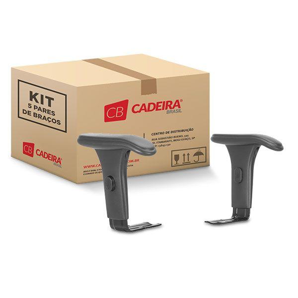Kit com 5 Pares de Braços Regulável Corporativo BR026K Cadeira Brasil