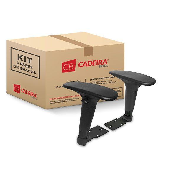 Kit com 5 Pares de Braços Regulável Corporativo BR039K Cadeira Brasil