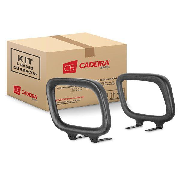 Kit com 5 Pares de Braços Retangular Fixo BR013K Cadeira Brasil